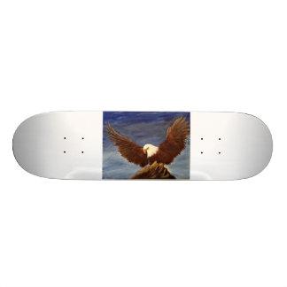 Skate da pintura da águia americana