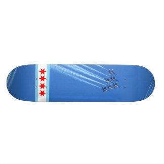 Skate de Chicago dos anjos azuis