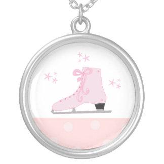 Skate de gelo cor-de-rosa bijuteria personalizada