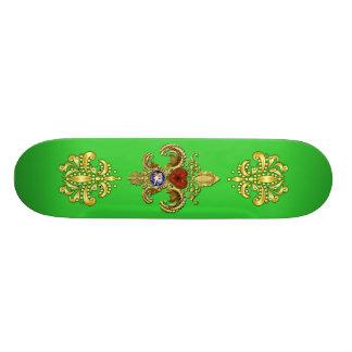 Skate de Louisiana sobre 50 cores