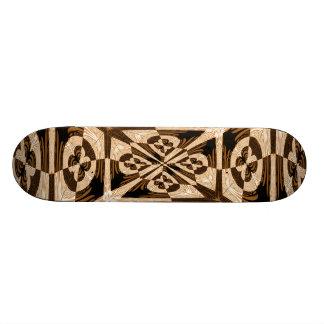 Skate de madeira do embutimento do falso