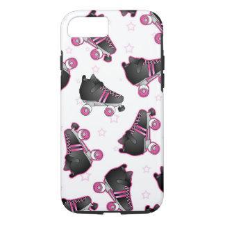 Skate de rolo e estrela pretos e cor-de-rosa - capa iPhone 7