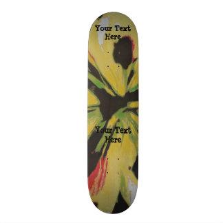 Skate design moderno original amarelo preto da arte