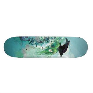 Skate desmontado dos rasgos