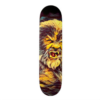 Skate do Airbrush do homem do lobo