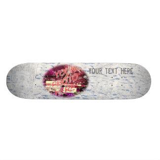 Skate do modelo da foto das pegadas da neve