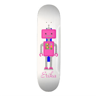 Skate do robô do rosa do conselho do patinador