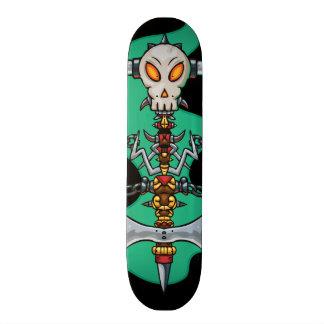 Skate do Totem do crânio Shape De Skate 20,6cm