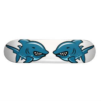 Skate do tubarão dos desenhos animados
