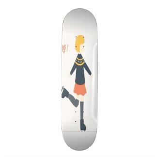 Skate Eu amo o conselho feminino bonito de esqui do