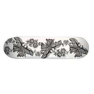 Skate feminino das mariquinhas da borboleta do laç