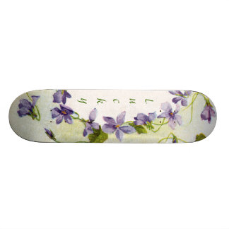Skate feminino das mariquinhas florais afortunadas