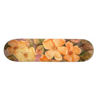 Skate feminino das mariquinhas selvagens amarelas