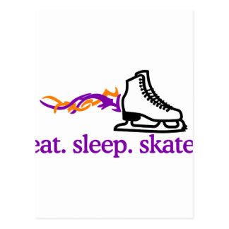 Skate flamejante cartão postal