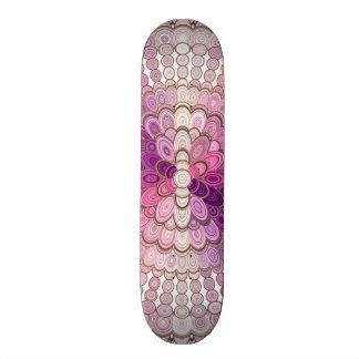 Skate Flor cor-de-rosa e roxa da mandala