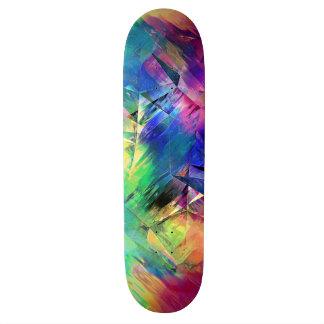 Skate Formas e texturas coloridas abstratas