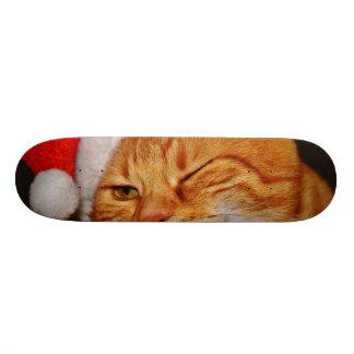 Skate Gato alaranjado - gato de Papai Noel - Feliz Natal