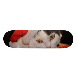 Skate Gato de Papai Noel - Feliz Natal - gato do animal
