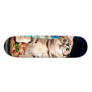 Skate gato do DJ - gato do espaço - pizza do gato -