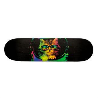 Skate Gato do hipster - astronauta do gato - espace o