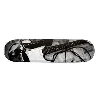"Skate ""Guitarra (Preto e branco)"""