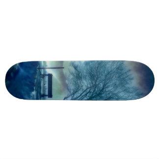 Skate Impressão impressionante do inverno