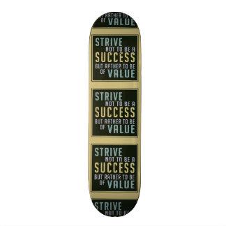 Skate inspirador do sucesso & do valor