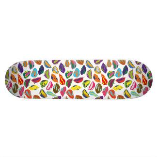 Skate Lábios coloridos retros psicóticos do teste padrão