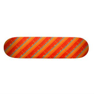 Skate Listras azuis rústicas legal do vermelho do