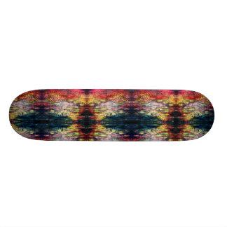 Skate Madeira-impressão da cor do arco-íris