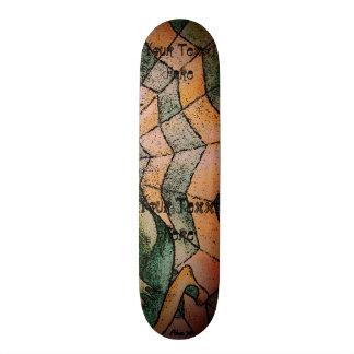Skate máscaras da arte retro do abstrato verde do cobweb
