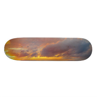 Skate mediterrâneo do por do sol