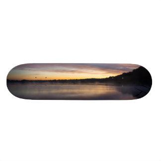 Skate Nascer do sol do outono de Springfield do lago