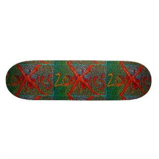 skate nenhum esverdeado vermelho dos zombis