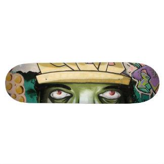 Skate Olhos coloridos da arte da rua