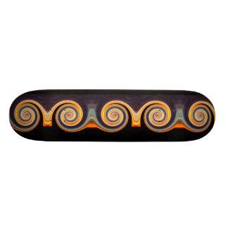Skate original do Fractal da espiral do por do sol