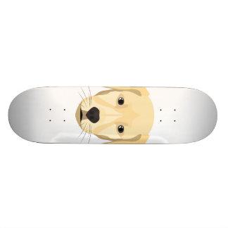 Skate Ouro Retriver do filhote de cachorro da ilustração