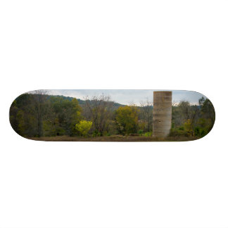 Skate Paisagem do silo do país
