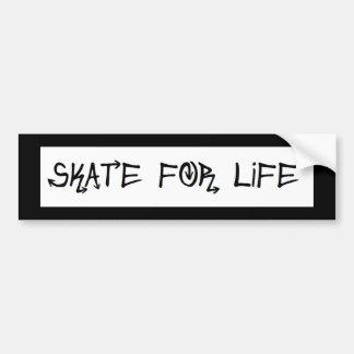 Skate para a etiqueta da vida adesivo para carro