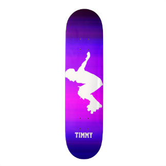 Skate Patinador Inline; Azul violeta e magenta vibrantes