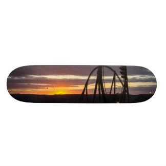 Skate Por do sol do incêndio violento