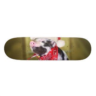Skate Porco Papai Noel - porco do Natal - leitão