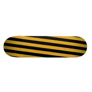 Skate - preto & listras diagonais Goldenrod