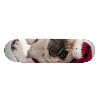 Skate Pug do Natal - cão de Papai Noel - persiga claus