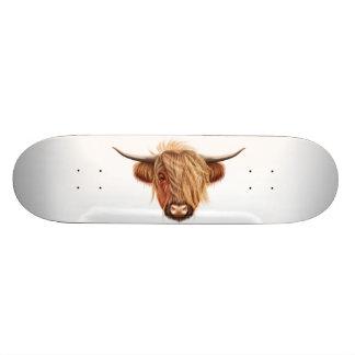 Skate Retrato ilustrado do gado das montanhas