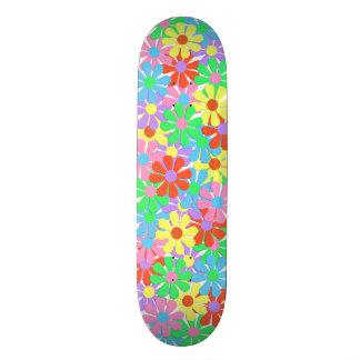 skate retro de flower power dos anos 60