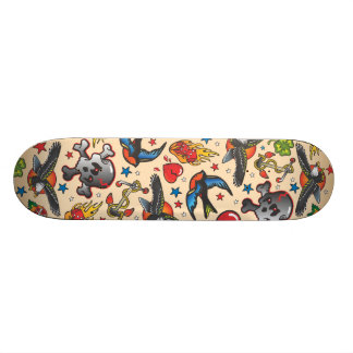 Skate retro do tatuagem