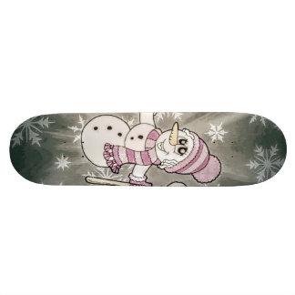 Skate Senhora bonito da neve