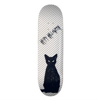 Skate Silhueta do gato preto do Dia das Bruxas
