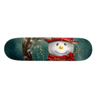 Skate Snowmans bonitos - ilustração do boneco de neve